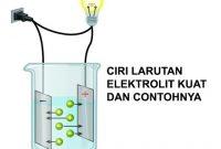 ciri larutan elektrolit kuat
